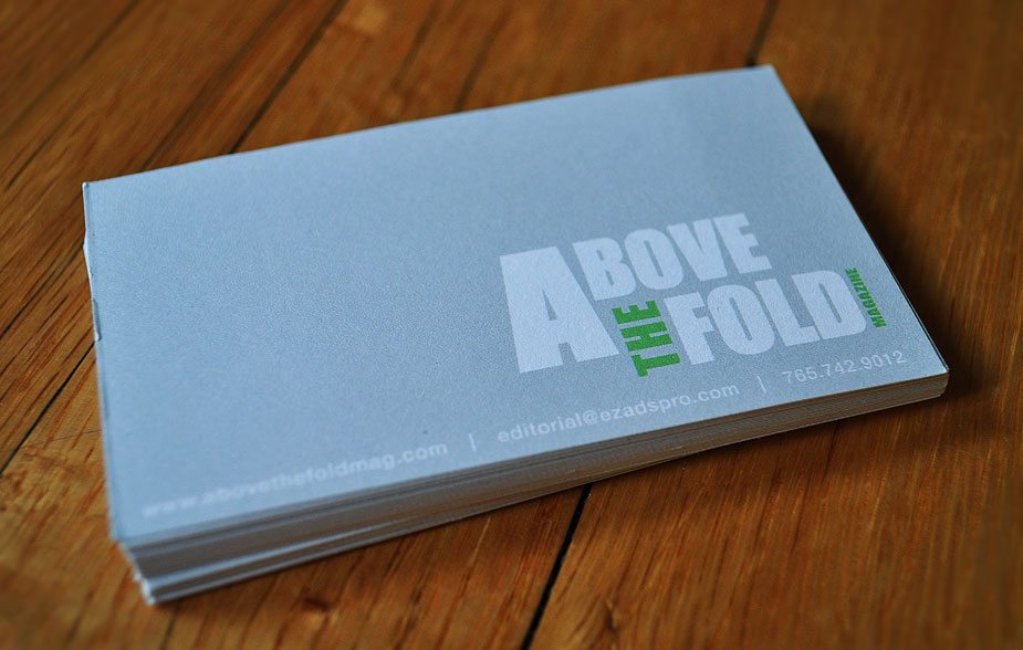 Above the Fold Business Card « meg erlewine